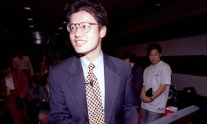 Jerry Yang, one of Yahoo's founders, pictured in 1998