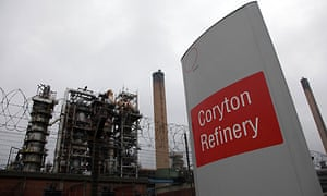 The Coryton oil refinery in south-eastern England