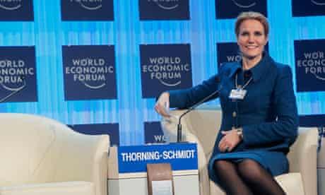 Helle Thorning-Schmidt, Danish prime minister, at Davos 2012