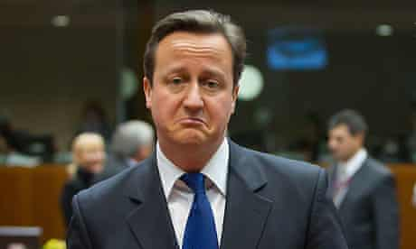 David Cameron at the EU summit in Brussels