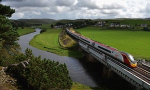 Virgin train on the west coast mainline route