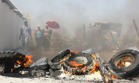 Unrest at the Anglo American Platinum (Amplats) mine, Rustenburg, South Africa