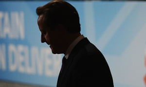 David Cameron at The Conservative party conference, 2012