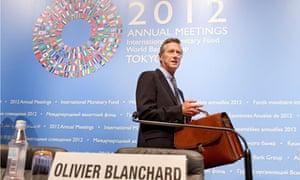 IMF's Olivier Blanchard at the Tokyo International Forum, 2012