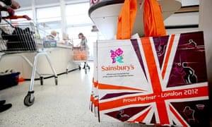 Sainbury's shopping bag featuring the Paralympic logo