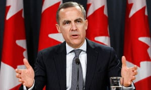 Bank of Canada governor Mark Carney will take over the reins at the Bank of England next year