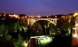 Luxembourg City at night