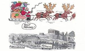 Kipper Williams Christmas card - Athens