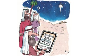 Kipper Williams Christmas card - three kings