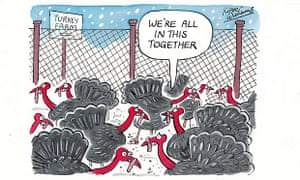 Kipper Williams Christmas Cards 2012 - turkeys