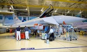 Eurofighter Typhoon at BAE Systems' Warton factory
