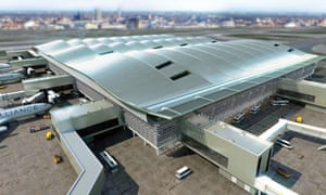 Heathrow, computer generated image of the new Terminal 2 building
