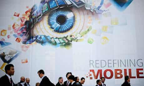 Visitors attend the Mobile World Congress in Barcelona