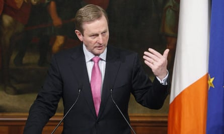 Irish prime minister Enda Kenny visits Italy