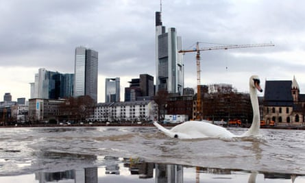 Skyline including the European Central Bank, seen centre