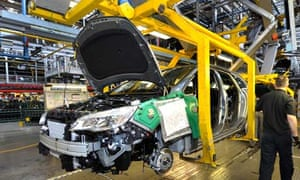 A view of the Vauxhall Astra production line at the Vauxhall Motors factory in Ellesmere Port