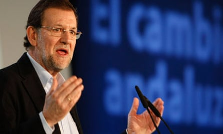Spain's PM Rajoy speaks during a campaign rally in Almeria