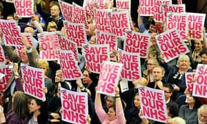 NHS bill rally at Westminster