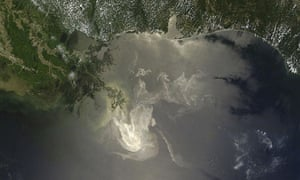 NASA satellite image shows the extent of the oil released from the Deepwater Horizon spill