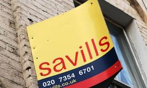 Savills estate agent board