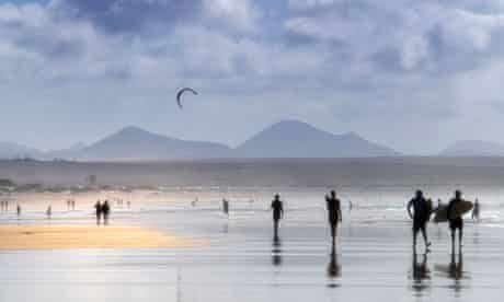 Famara beach, Lanzarote, Canary Islands. Spain