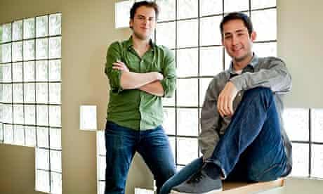 Kevin Systrom with Mike Krieger in San Francisco
