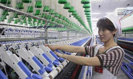 A textile factory in China's Jiangsu province