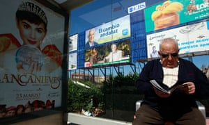 Electoral posters in Seville, Andalucia, March 2012