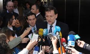 Mariano Rajoy and Royals Visit King Juan Carlos