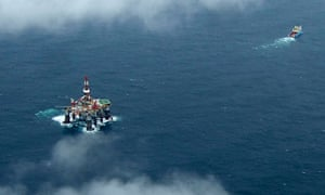 Ocean Guardian drilling rig near Falkland Islands