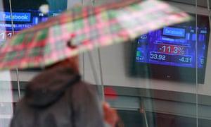 Facebook shares fell 11% in morning trading on Nasdaq