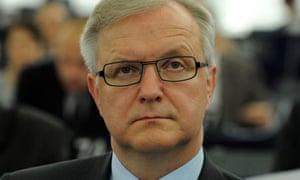 Olli Rehn, European commissioner for economic affairs