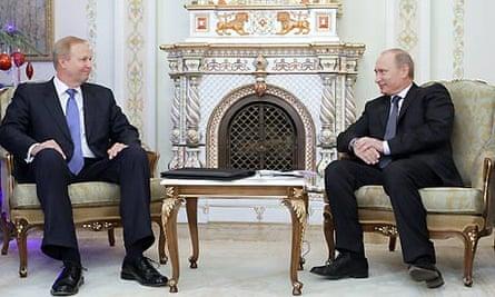 BP chief Bob Dudley at a meeting with Vladimir Putin last year