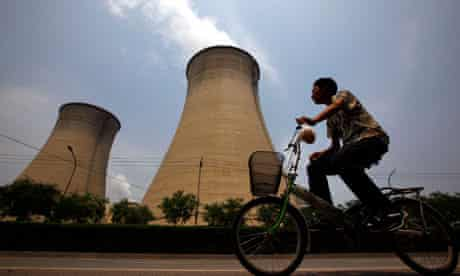 Coal-burning power station in Beijing, China