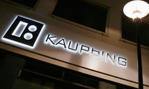 Branch of Iceland's Kaupthing Bank is seen in downtown Reykjavik