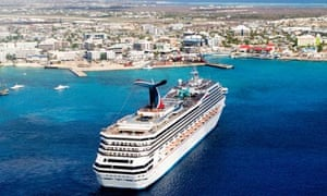 Cruise liner in the Cayman Islands
