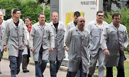 Peugeot Citroen workers