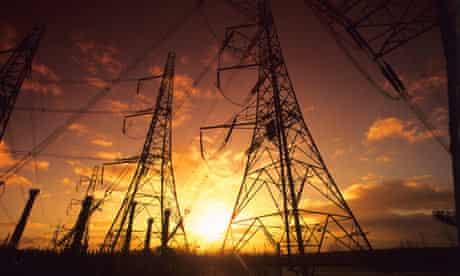 Electricity pylons, Yorkshire