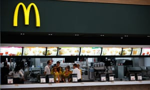 McDonald's in the 2012 Olympic village, London.