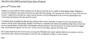 Barclays scandal exchanges with the bank of england business email sent by barclays bob diamond over libor discussions altavistaventures Gallery