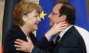 German chancellor Angela Merkel and French president François Hollande