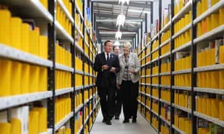 Prime Minister David Cameron visits the Amazon distribution warehouse in Hemel Hempstead