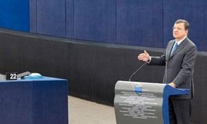José Manuel Barroso at the European parliament, 12 September 2012