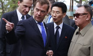 Dmitry Medvedev and Kim Jong-il
