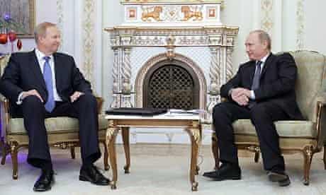 Bob Dudley and Vladimir Putin