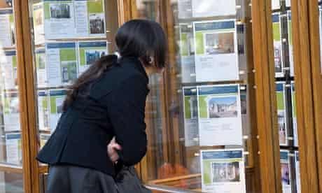 An estate agent window