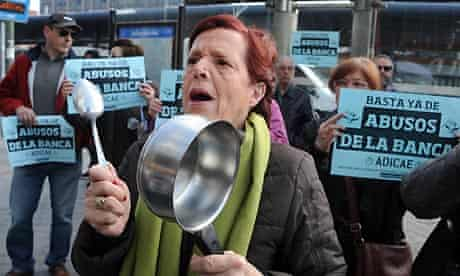 Bank protest in Spain