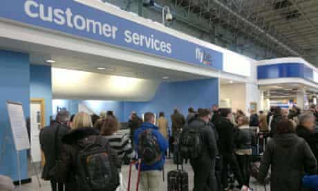 Flybe customer service desk at Birmingham Airport