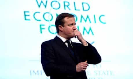 Prime Minister David Cameron at Davos 2013