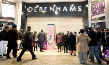 Boxing Day sales at Debenhams